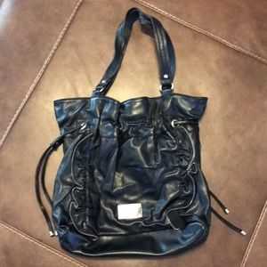Nine West black faux leather bag